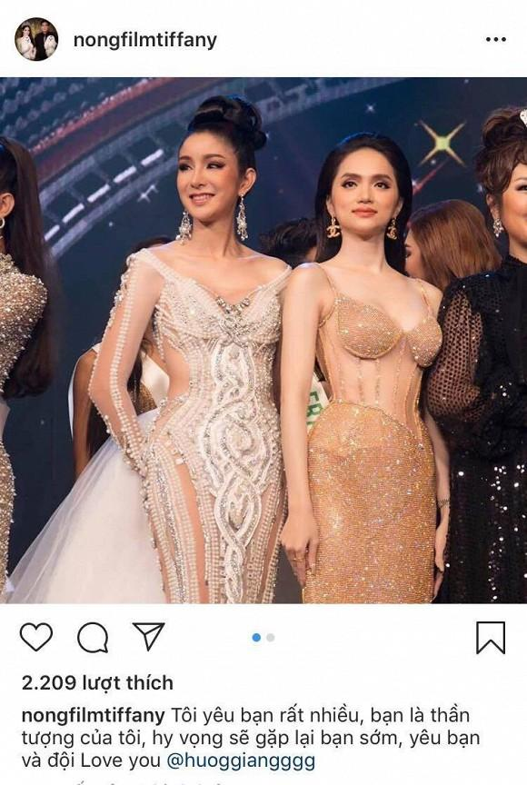 Hoa hậu Chuyển giới Quốc tế 2007 bày tỏ sự ngưỡng mộ với Hương Giang-3