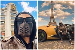 Rich kid Kazakhstan đeo khẩu trang Louis Vuitton phòng dịch Covid-19