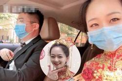 Cô dâu xinh đẹp tự lái xe về nhà chồng làm đám cưới giữa dịch Covid-19, lý do phía sau mới thú vị
