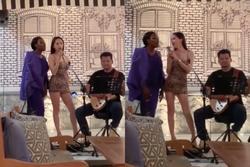 Hương Giang nóng bỏng làm lu mờ Hoa hậu Chuyển giới Quốc tế 2019 khi cùng song ca