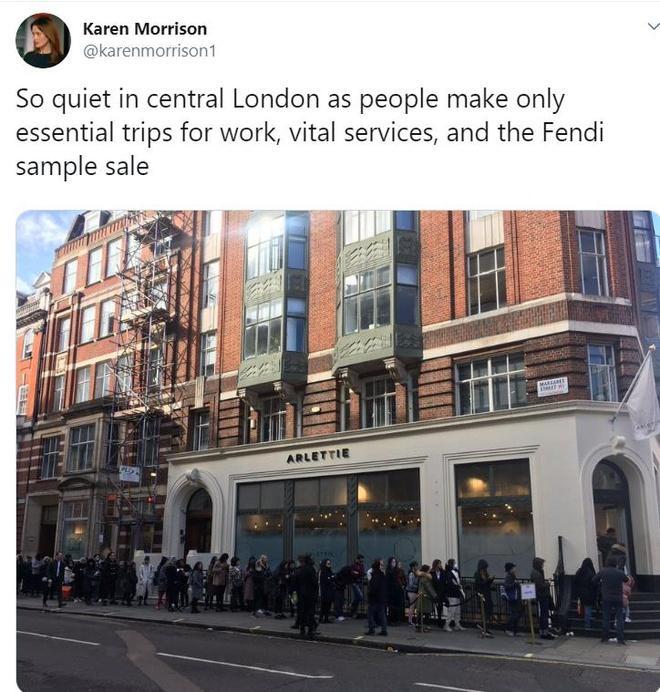 Người dân Anh xếp hàng dài mua đồ Fendi giá rẻ bất chấp dịch Covid-19-1