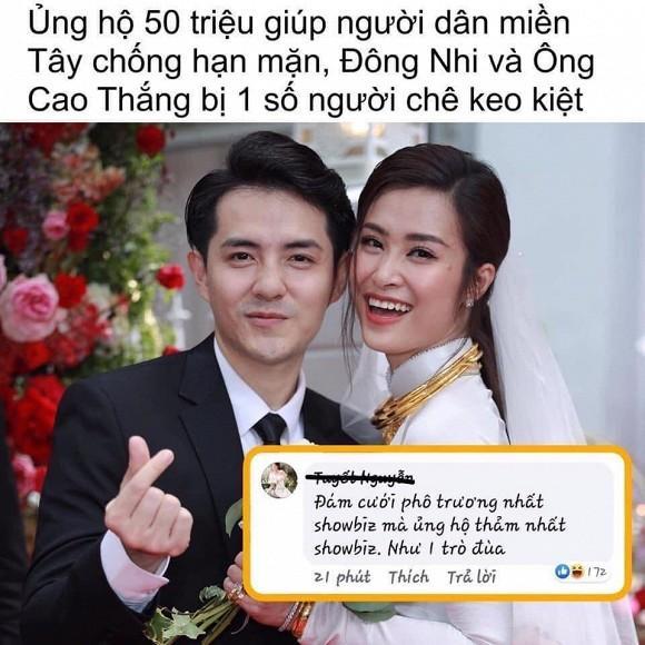 Ủng hộ 50 triệu chống ngập mặn miền Tây, vợ chồng Đông Nhi lại bị chỉ trích keo kiệt-2