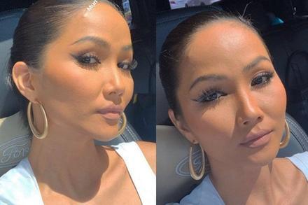 Tự tin phơi mặt dưới ánh mặt trời, H'Hen Niê để lộ mụn và da sần sùi dù makeup kĩ