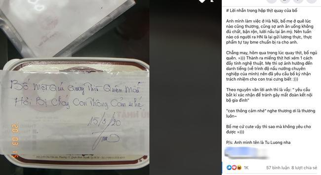 Bố chuẩn bị thịt quay cho con nhưng cộng đồng mạng lại rưng rưng vì lời nhắn ghi trên giấy-1