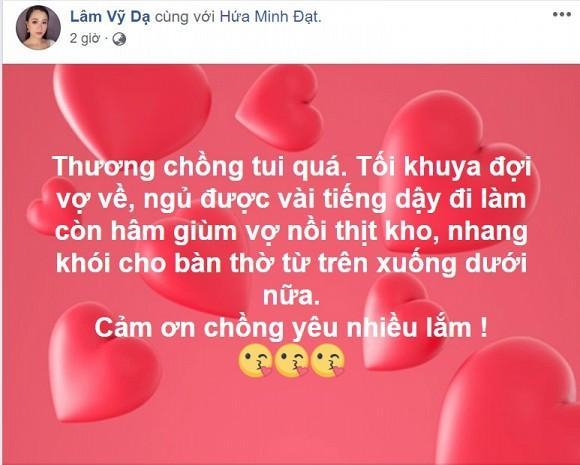 Lâm Vỹ Dạ khoe chồng tâm lý, BB Trần lập tức có hành động đốt nhà đồng nghiệp-1