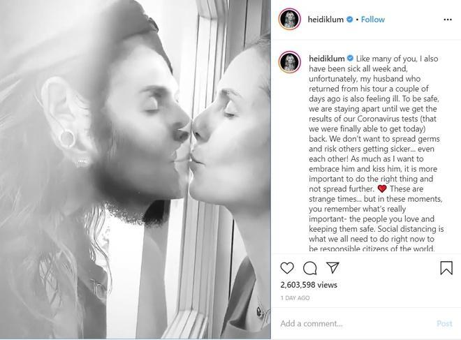 Nụ hôn 2,6 triệu lượt xem của Heidi Klum và bạn trai-1
