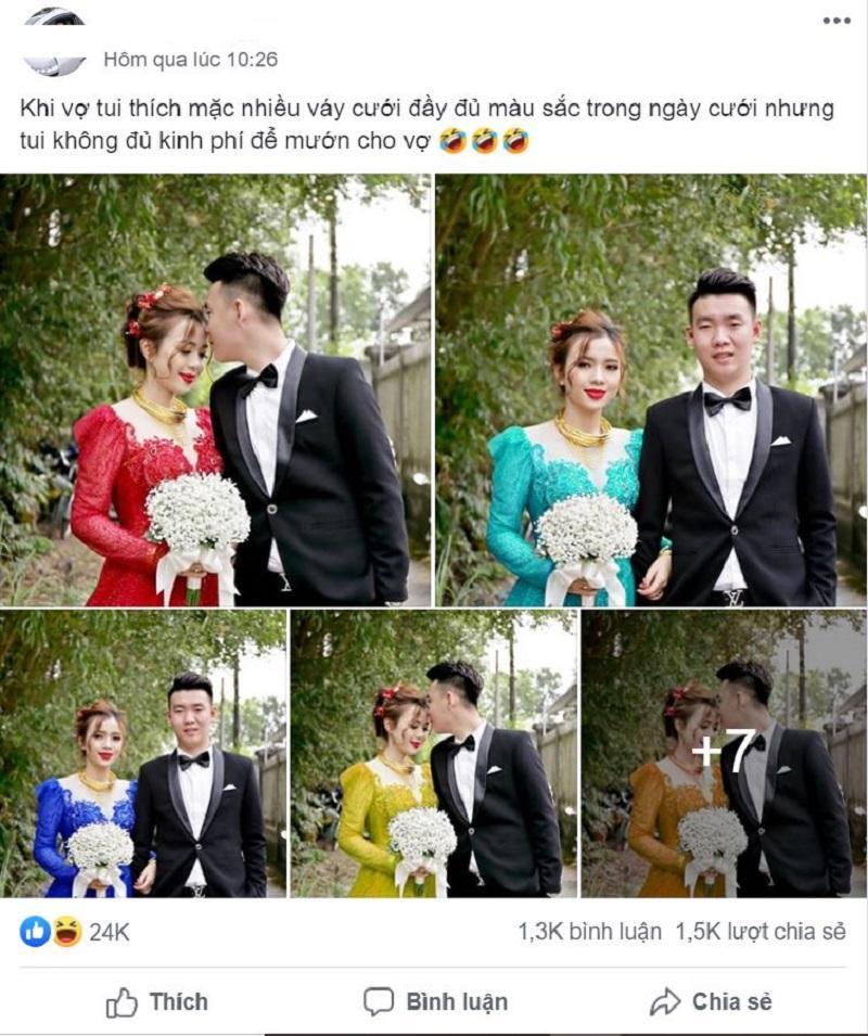 Vợ thích mặc nhiều váy trong ngày cưới nhưng không đủ tiền, anh chồng nghĩ ra cách không thể bá đạo hơn-1