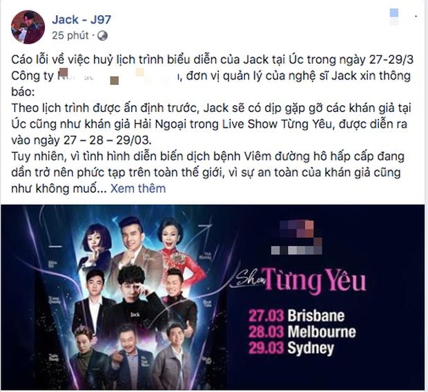 Show diễn ở Úc có Jack bị hủy do dịch Covid-19, fan tiếc nuối sân khấu debut đầu tiên tại trời Tây-3