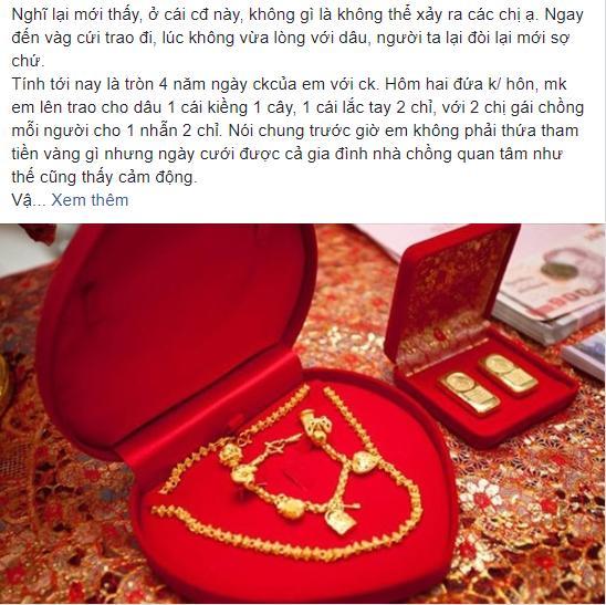 Chồng ngoại tình, vợ quyết ly hôn liền bị đòi lại vàng cưới và màn đáp trả cao tay làm chị em hả hê-1