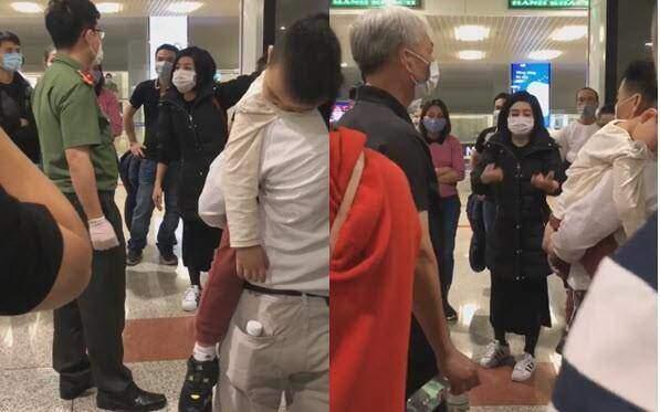 Clip: Nữ hành khách quát tháo ầm ĩ, dọa nạt an ninh sân bay Nội Bài, đòi về nhà cách ly mới chịu!-1