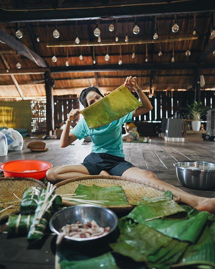 Choáng ngợp với nhà sàn dài 41m ở Đắk Lắk của hoa hậu HHen Niê-7