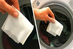 Lấy 2 tờ giấy ướt cho vào máy giặt, hiệu quả bất ngờ mẹ nào cũng nên học theo