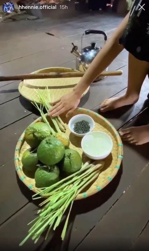 Học hoa hậu HHen Niê trổ tài làm trà ô long cam sả, chẳng cần ra hàng mua nữa rồi!-1