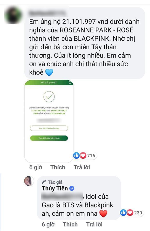 Fan Rosé chi mạnh ủng hộ miền Tây, Thủy Tiên tiết lộ bé Bánh Gạo thần tượng BTS và BLACKPINK-3