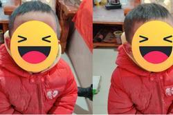 Nghịch ngợm dùng bút vẽ lên mặt, cậu bé khóc thét khi soi gương nhìn thành quả