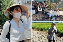 'Trầy da tróc vẩy' khảo sát hạn mặn, Thủy Tiên xót xa người nông dân đội nắng chờ nước về