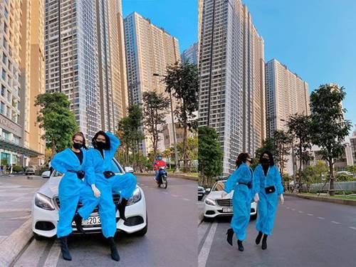 Sao mặc áo bảo hộ kín mít mùa dịch Covid-19: Võ Hoàng Yến quẩy cực sung, Chi Pu và Hari Won mix cùng hàng hiệu-6