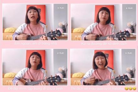 Trang Hý biến ca khúc ngày xuân thành phiên bản mới cổ vũ tinh thần chống dịch Covid-19