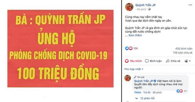 Từ Nhật Bản, vlogger Quỳnh Trần JP ủng hộ 100 triệu chống dịch Covid-19-1