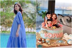 Con gái đầu tròn 2 tuổi, Hoa hậu Việt Nam 2012 Đặng Thu Thảo ẩn ý đang mang bầu lần nữa?