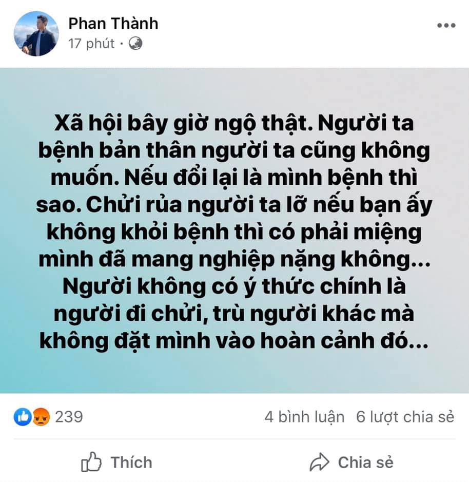 Sau phát ngôn vạ miệng, thiếu gia Phan Thành ủng hộ quỹ chống Covid-19 nhưng che số để tránh đàm tiếu-3