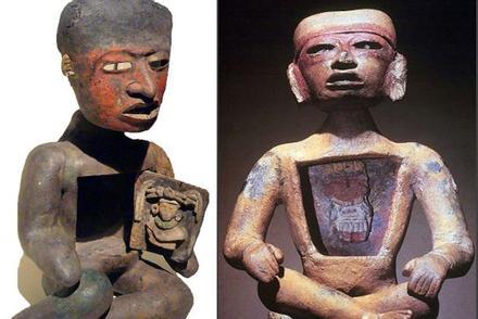 Kỳ bí những bức tượng người rỗng bụng tại thành phố của các vị thần