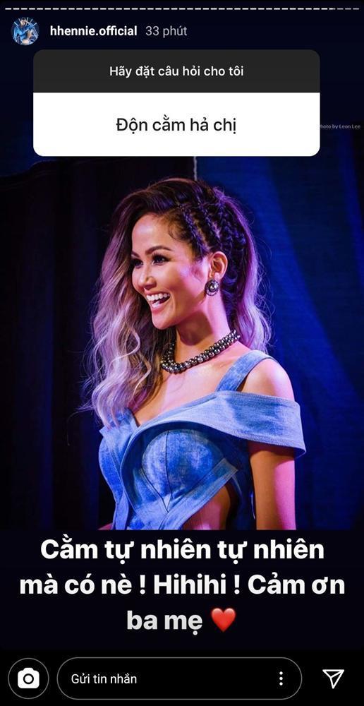 Hoa hậu HHen Niê lên tiếng khi bị hỏi chuyện độn cằm-1