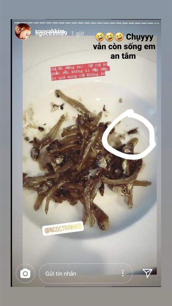 Ngọc Trinh khoe cảnh ăn cá khô, fan phát hiện con ruồi lù lù trên đĩa-6