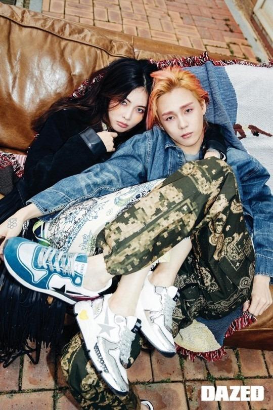 HyunA và bạn trai tạo dáng kỳ quặc trên tạp chí danh tiếng xứ Hàn-4