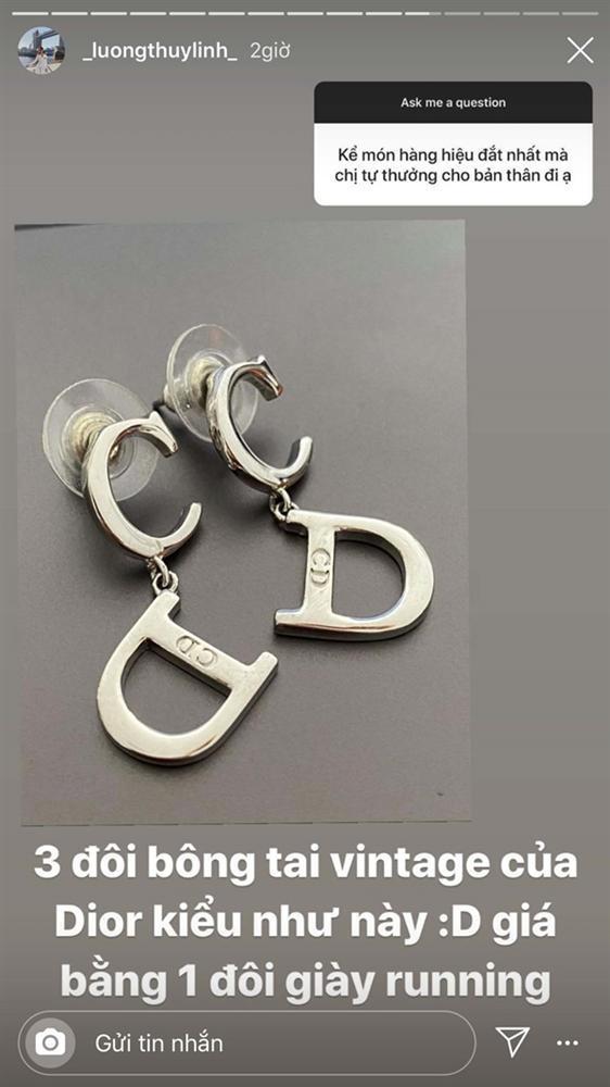 Nửa năm đăng quang, gia tài hàng hiệu của Lương Thùy Linh chỉ là 3 đôi hoa tai Dior cũ-3