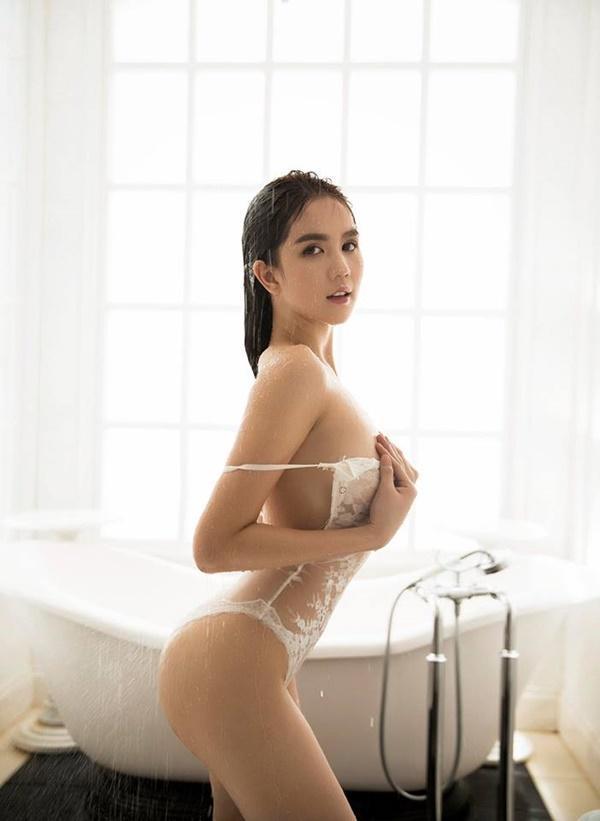 Ngọc Trinh khỏa thân trong bồn tắm, dân mạng chỉ quan tâm ai là người chụp loạt hình này!-11