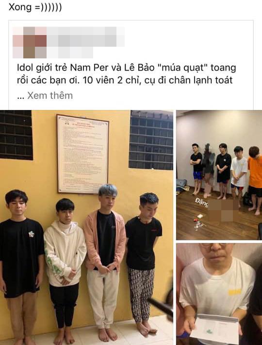 Lộ ảnh bị bắt vì tàng trữ chất cấm, Idol Lê Bảo vẫn khẳng định đóng phim, dân mạng yêu cầu livestream-1