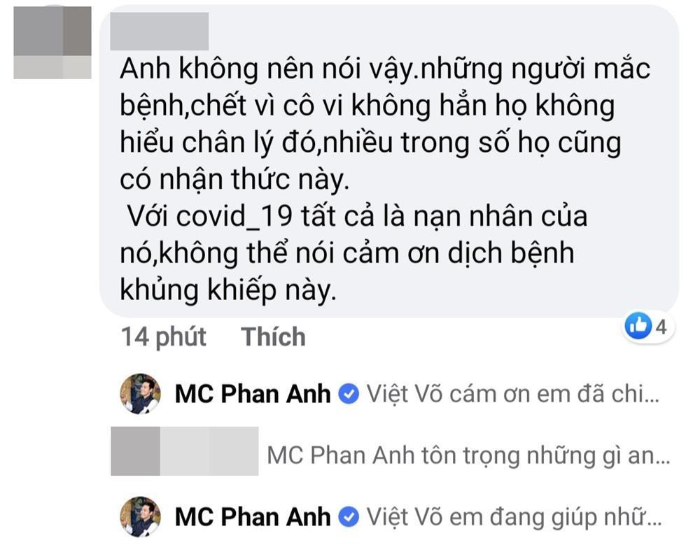 MC Phan Anh gây tranh cãi khi viết status cảm ơn đại dịch Covid-19-2