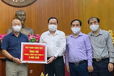 Sau các học trò, HLV Park Hang Seo tiết lộ ủng hộ khoản tiền lớn chống dịch Covid-19