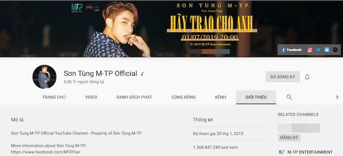 Giấu kín bao lâu, kênh Youtube Mỹ Tâm bỗng công khai follower khủng đến độ Sơn Tùng M-TP cũng ra chuồng gà-1