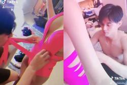 Tròn mắt xem Lâm Vinh Hải dùng răng căn chỉnh dây áo tắm cho Linh Chi