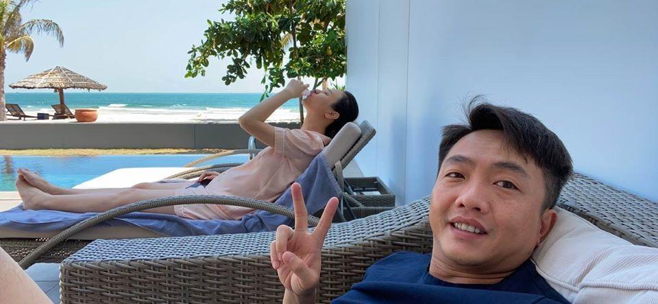 Đàm Thu Trang lộ rõ bụng nhô cao như bầu 4 tháng khi đi nghỉ dưỡng cùng Cường Đô La-1