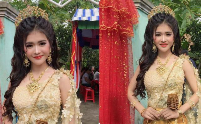Sau 2 năm náo loạn MXH vì ngoại hình xinh đẹp, cô dâu Khmer ở Sóc Trăng giờ sống ra sao?-1
