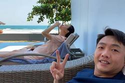 Vợ Cường Đô La phủ nhận tin đồn mang bầu dù tiếp tục lộ ảnh vòng 2 bất thường