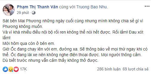 Dàn sao Việt nghẹn thở như chết lặng khi nghe tin diễn viên Mai Phương qua đời-2