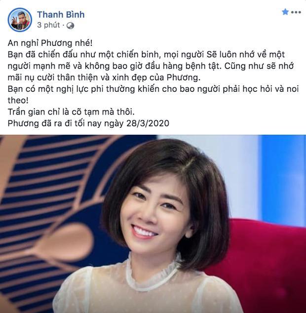 Dàn sao Việt nghẹn thở như chết lặng khi nghe tin diễn viên Mai Phương qua đời-3