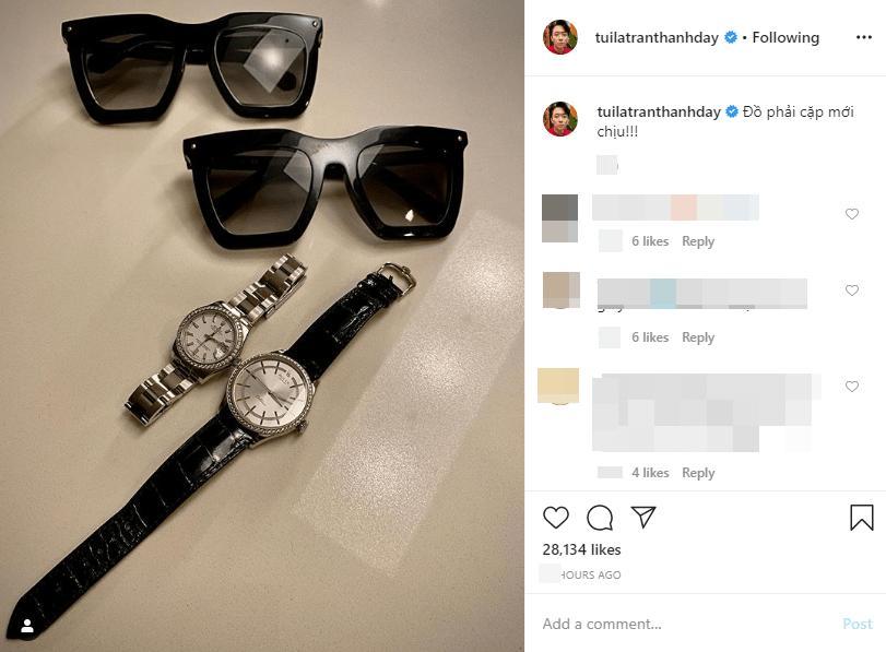 Chẳng cần lễ lộc gì, Trấn Thành vẫn sắm bộ đôi kính, đồng hồ nửa tỉ chiều chuộng bà xã-1