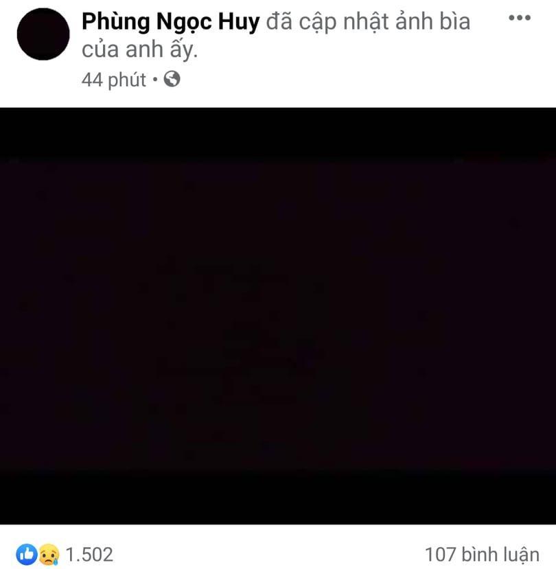Phùng Ngọc Huy phủ màu đen lên mạng xã hội khi hay tin Mai Phương qua đời-2