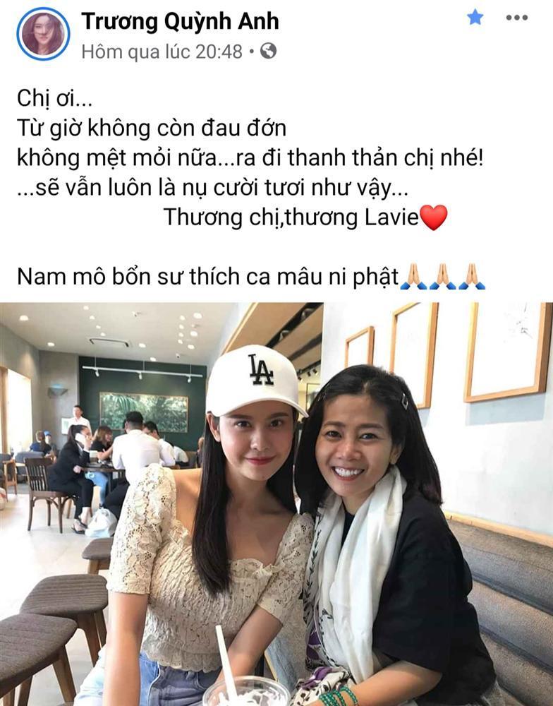 Thương xót Mai Phương, nghệ sĩ Việt lại chạnh lòng khi nghĩ đến con gái người quá cố-9