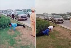 CSGT Bắc Giang lên tiếng về clip phạt tài xế chống đẩy do không đeo khẩu trang: 'Tài xế chống đẩy để chứng minh sức khỏe tốt'
