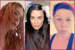 Pink và dàn sao Hollywood cạo đầu hỏng, tự nhuộm tóc tại nhà