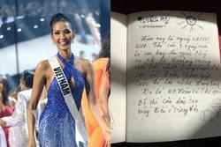 Bố Hoàng Thùy viết thư tay xúc động trước ngày con gái lên đường thi Miss Universe