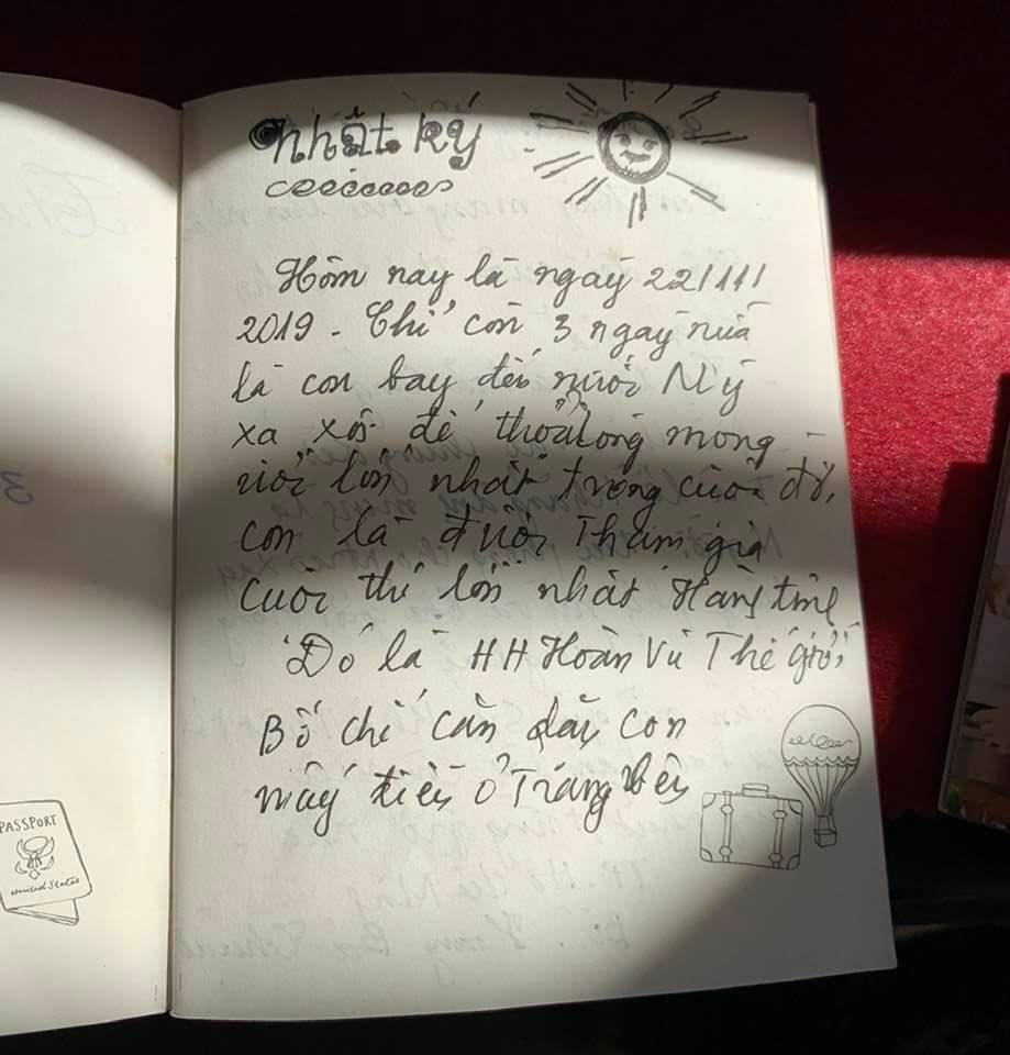 Bố Hoàng Thùy viết thư tay xúc động trước ngày con gái lên đường thi Miss Universe-1