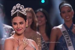 Bản tin Hoa hậu Hoàn vũ 31/3: Làm nền cho Catriona Gray, Hoàng Thùy vẫn gây sự chú ý