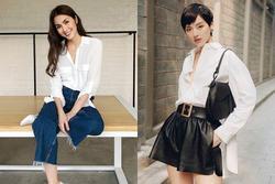 Tăng Thanh Hà, Khánh Linh và cách mặc áo sơ mi trắng đẹp mỗi ngày